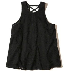 🆕 Hollister Strappy Lace High Neck Tank - Medium